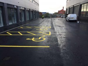 road markings Pendlebury